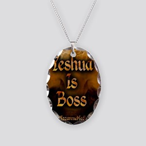 Yeshua is Boss  Necklace Oval Charm