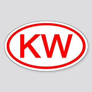 KW Oval (Red) Oval Sticker