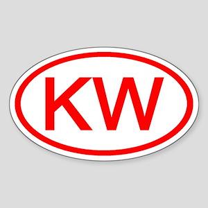 KW Oval (Red) Oval Sticker