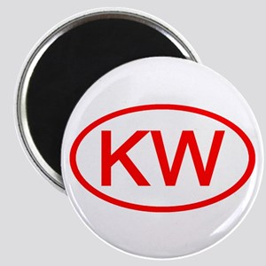 KV Oval (Red) Magnet