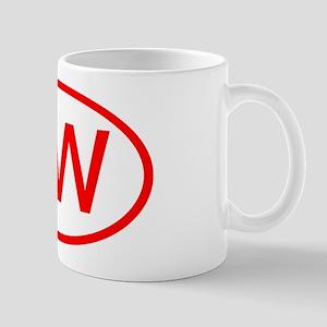 KV Oval (Red) Mug