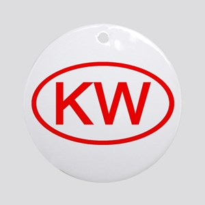 KV Oval (Red) Ornament (Round)