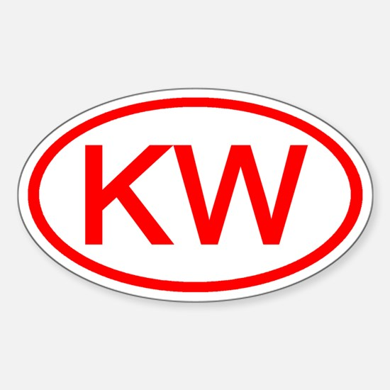 KV Oval (Red) Oval Decal
