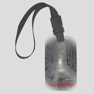 Yule Blessings Large Luggage Tag