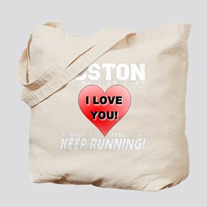 Boston Keep Running Tote Bag