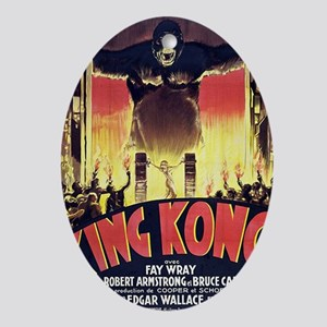 King Kong 1933 French poster Oval Ornament
