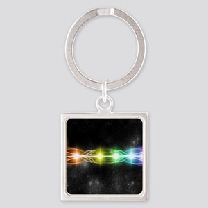 7 chakra H Mouse pad Square Keychain