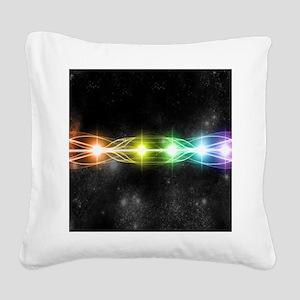 7 chakra H Mouse pad Square Canvas Pillow