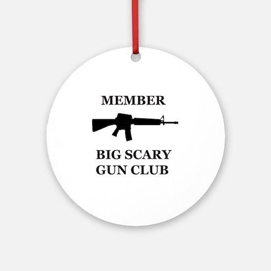Big Scary Gun Club Round Ornament