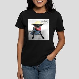 Black Lab Farmer Women's Dark T-Shirt