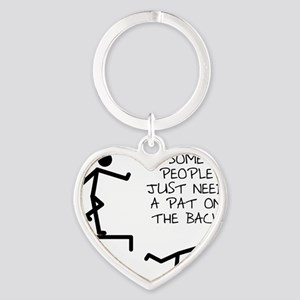 A Pat On The Back Funny T-Shirt Heart Keychain