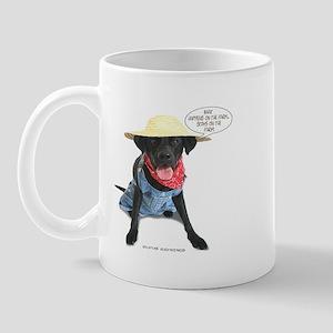 Black Lab Farmer Mug