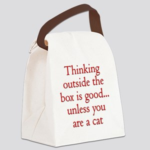 Cat Thinking Canvas Lunch Bag