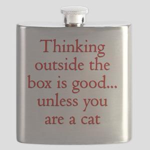 Cat Thinking Flask