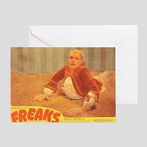 Freaks 1949 Lobby Card Greeting Card