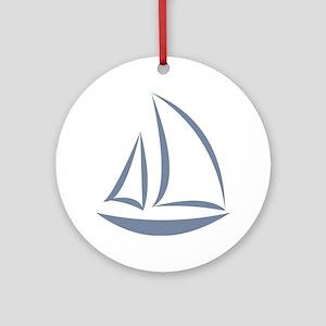 segeln Round Ornament