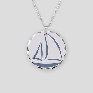 segeln Necklace Circle Charm