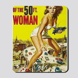 Attack of the 50 Foot Woman Poster Mousepad