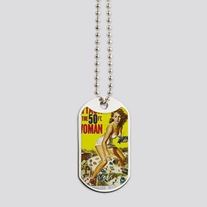 Attack of the 50 Foot Woman Poster Dog Tags