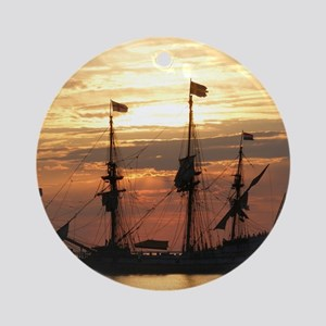 Sunset Flagship Round Ornament