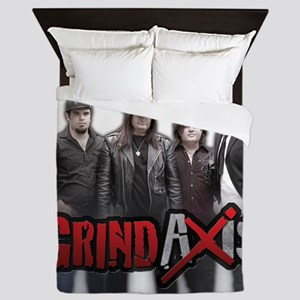 Band Photo Transparent Bkgd Queen Duvet