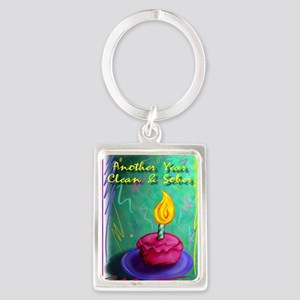 Another Year Clean and Sober Portrait Keychain