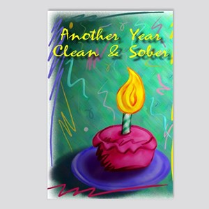 Another Year Clean and So Postcards (Package of 8)