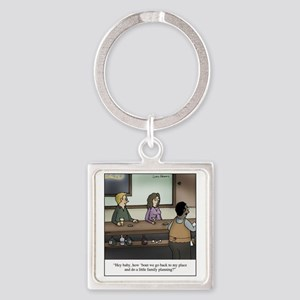 Family Planning Square Keychain