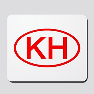 KH Oval (Red) Mousepad