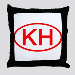 KH Oval (Red) Throw Pillow