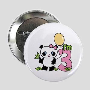 Lil' Panda Girl 3rd Birthday Button