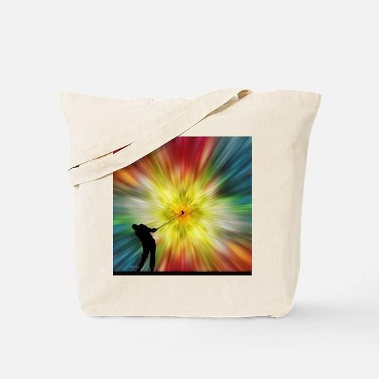 Tie Dye Silhouette Golfer Tote Bag