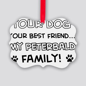 Peterbald Cat family Picture Ornament