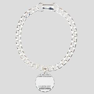 I like my Sussex Spaniel Charm Bracelet, One Charm