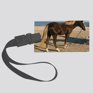 Rocky and Stroll Beach Large Luggage Tag