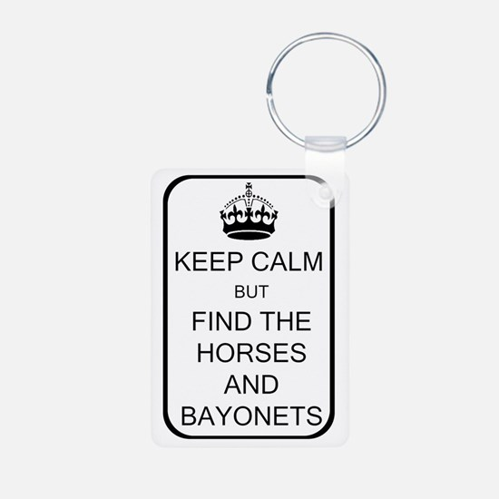 Keep Calm Aluminum Photo Keychain