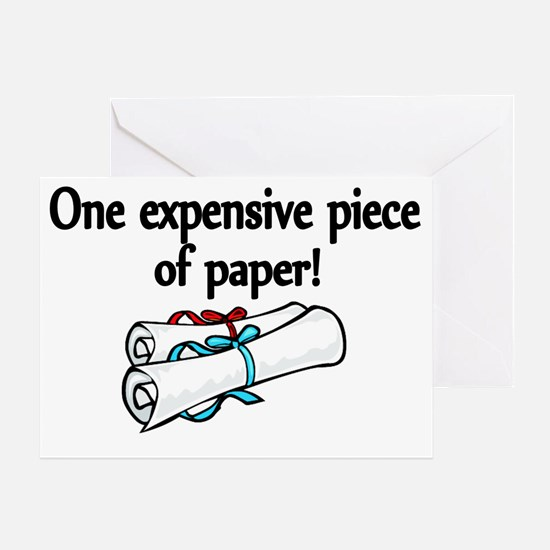 One expensive piece of Paper! Greeting Card