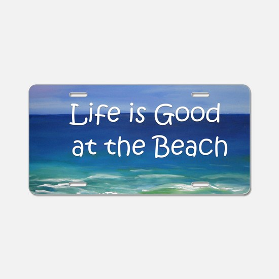 Beach Aluminum License Plate