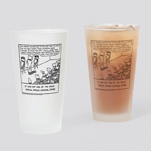Special Forces Bed Excercise Drinking Glass