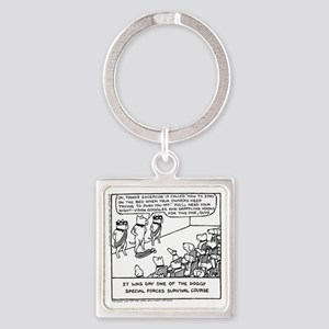 Special Forces Bed Excercise Square Keychain