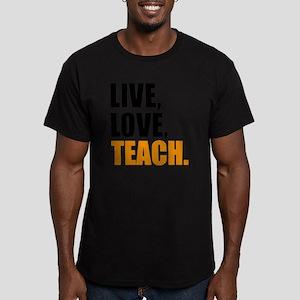 live, love, teach Men's Fitted T-Shirt (dark)