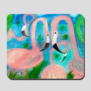 Flamingo party Mousepad