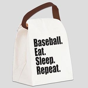 Baseball Eat Sleep Repeat Canvas Lunch Bag