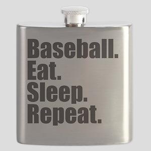 Baseball Eat Sleep Repeat Flask
