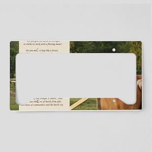 Belgian Job Quote License Plate Holder