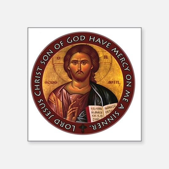 "Jesus Prayer Square Sticker 3"" x 3"""