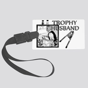 TrophyHusband banner Large Luggage Tag