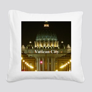 VaticanCity_2.5x3.5_Ornament  Square Canvas Pillow