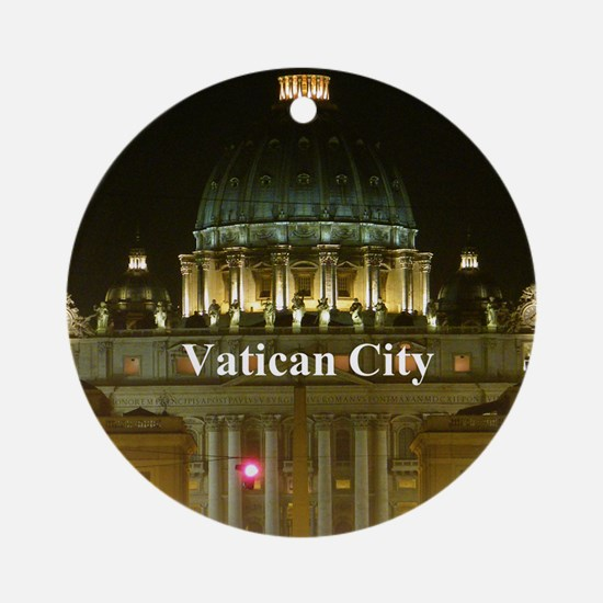 VaticanCity_2.5x3.5_Ornament (Oval) Round Ornament