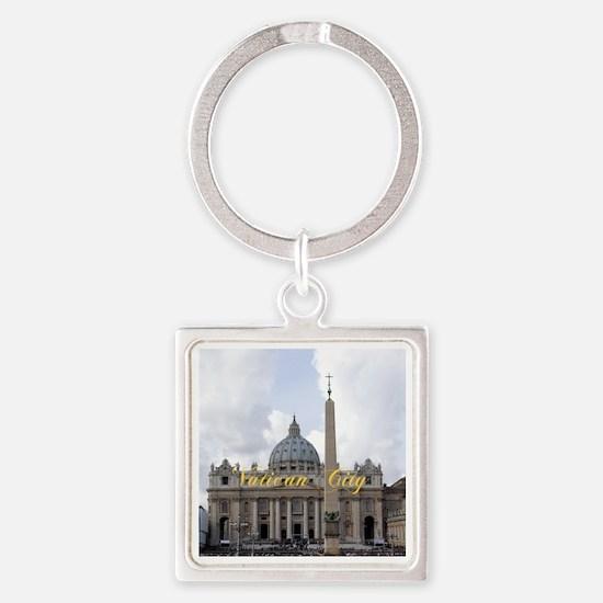 VaticanCity_6x6_apparel_Saint Pete Square Keychain